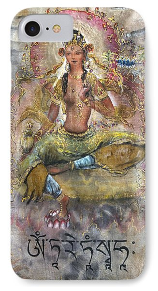 Red Tara Or Kurukulla  IPhone Case by Silk Alchemy