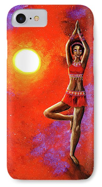 Red Tara Yoga Goddess IPhone Case by Laura Iverson
