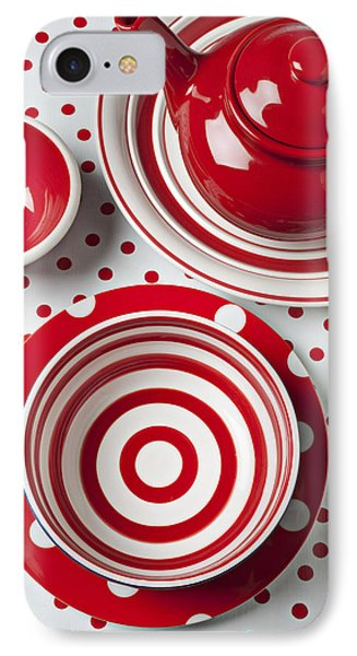 Red Teapot Phone Case by Garry Gay