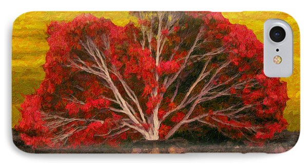 Red Thai Tree IPhone Case by Rob Tullis