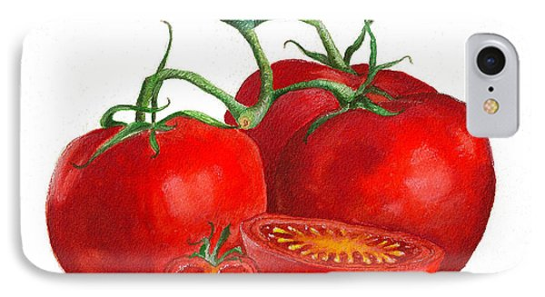 IPhone Case featuring the painting Red Tomatoes by Nan Wright