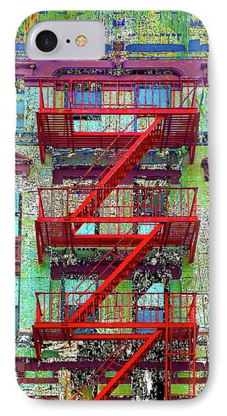 IPhone Case featuring the mixed media Red by Tony Rubino