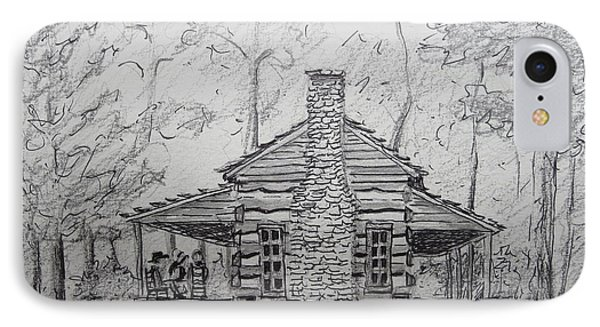 Red Top Mountain's Log Cabin IPhone Case