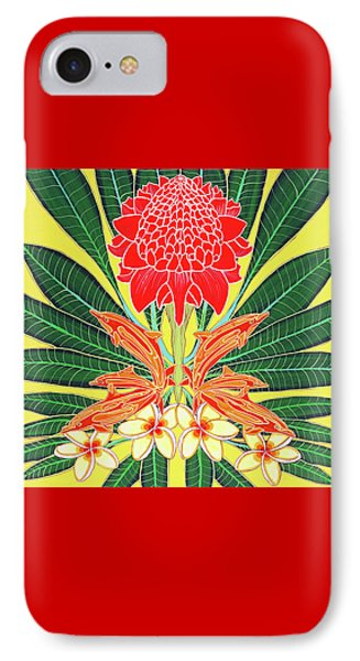 Red Torch Ginger IPhone Case by Debbie Chamberlin