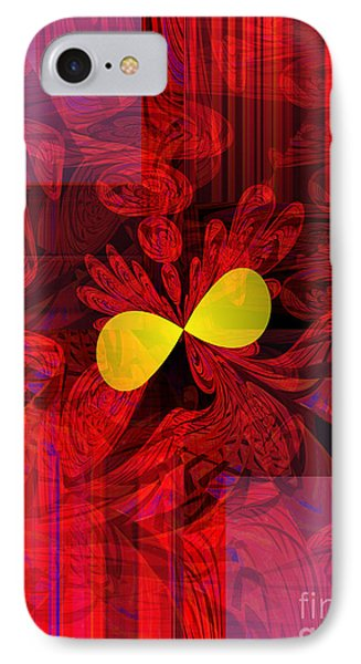 Red Transparency IPhone Case by Thibault Toussaint