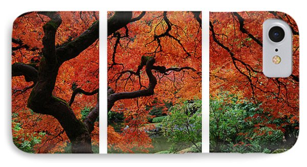 Red Tree IPhone Case by James Roemmling