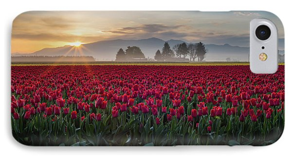 Red Tulips IPhone Case by Seattle Art Wall