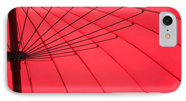 Red Umbrella Abstract IPhone Case