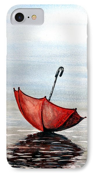 Red Umbrella IPhone Case by Edwin Alverio