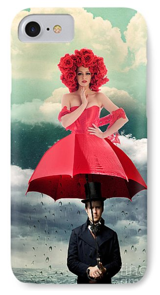 Red Umbrella IPhone Case by Juli Scalzi