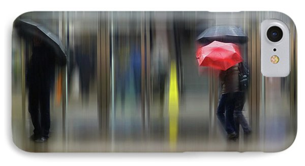 IPhone Case featuring the photograph Red Umbrella by LemonArt Photography
