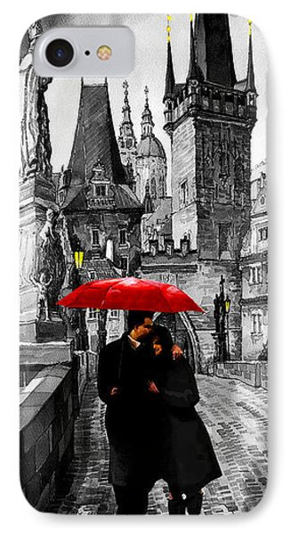 Red Umbrella IPhone Case by Yuriy  Shevchuk