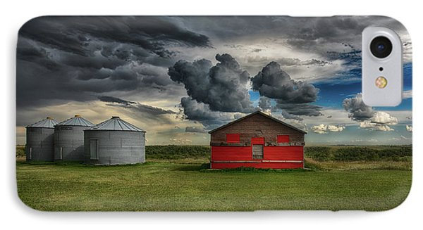 Red Under Grey IPhone Case by Ian McGregor