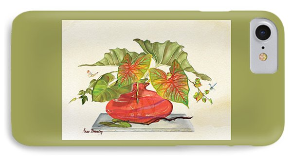 Red Vase IPhone Case by Anne Beverley-Stamps