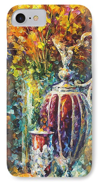 Red Vase Phone Case by Leonid Afremov