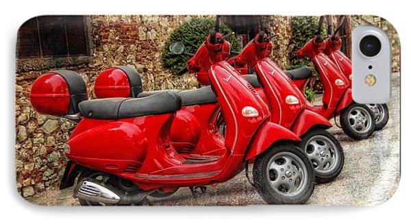 Red Vespas Phone Case by Mauro Celotti