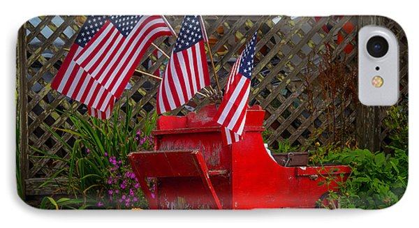 Red Wagon With Flags IPhone Case