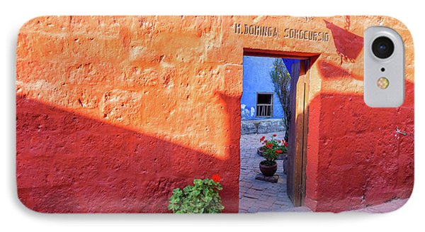 Red Wall In Santa Catalina Monastery IPhone Case by Jess Kraft