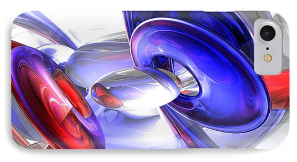 Red White And Blue Abstract Phone Case by Alexander Butler