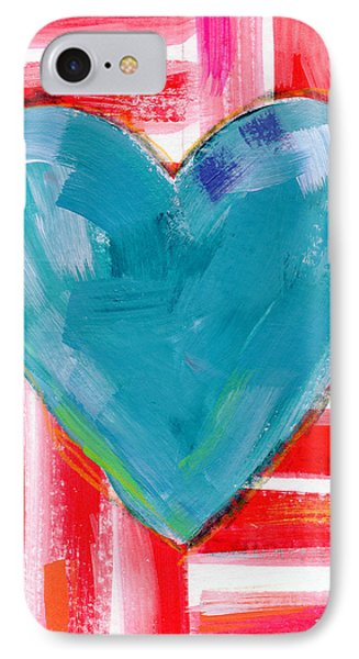 Red White And Blue Love- Art By Linda Woods IPhone Case by Linda Woods