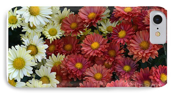 Red White And Yellow Fall Flowers IPhone Case