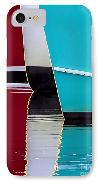 Red White Blue Reflections IPhone Case by Janice Drew