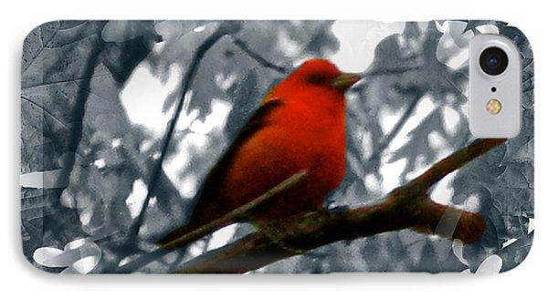 Red Wild Bird Phone Case by Debra     Vatalaro