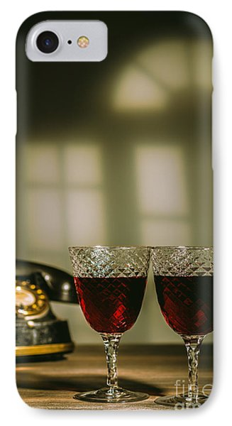 Red Wine IPhone Case by Amanda Elwell
