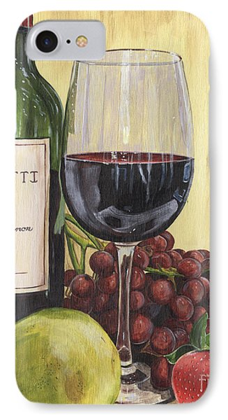 Red Wine And Pear 2 IPhone 7 Case by Debbie DeWitt