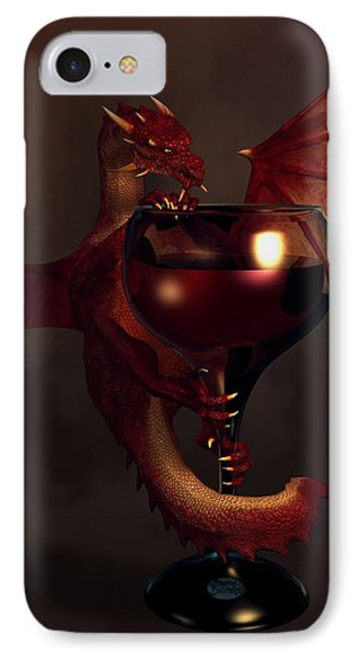 Red Wine Dragon IPhone Case