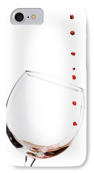 Red Wine Drops Into Wineglass Phone Case by Dustin K Ryan