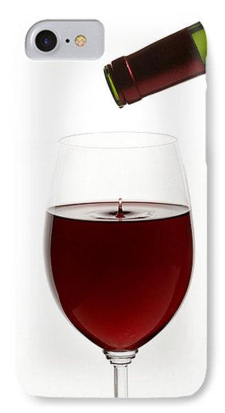 Red Wine On White Background With Droplet IPhone Case