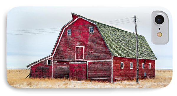 Red Winter Barn IPhone Case by Todd Klassy