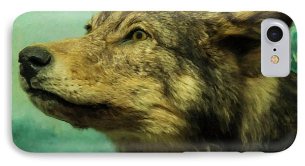 IPhone Case featuring the digital art Red Wolf Digital Art by Chris Flees