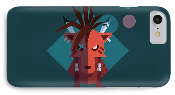 IPhone Case featuring the digital art Red Xiii by Michael Myers