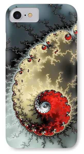 Red Yellow Grey And Black - Amazing Mandelbrot Fractal IPhone Case