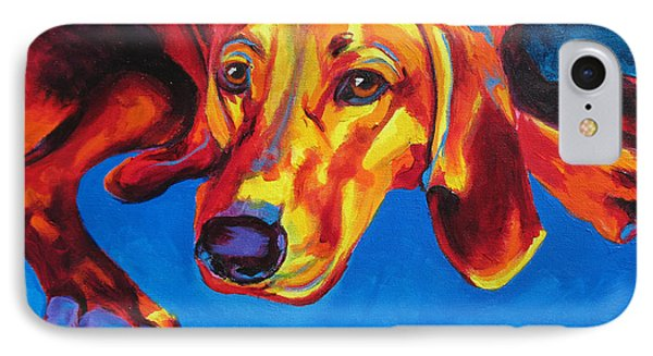Redbone Coonhound IPhone Case by Alicia VanNoy Call
