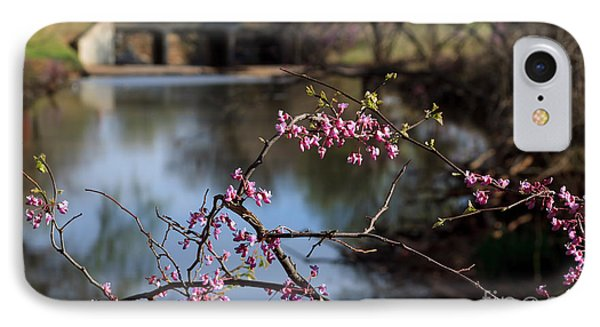 Redbuds And An Old Bridge IPhone Case