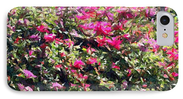 IPhone Case featuring the photograph Reddish Pink Crackled Flowers by Ellen O'Reilly