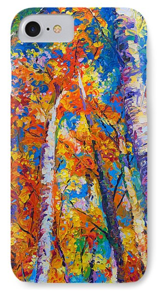 Impressionism iPhone 7 Case - Redemption - Fall Birch And Aspen by Talya Johnson