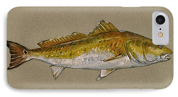 Redfish Painting  IPhone Case