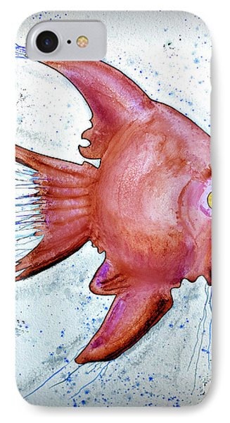 IPhone Case featuring the mixed media Redfish by Walt Foegelle