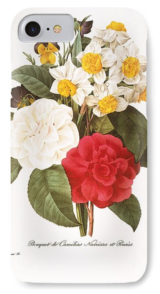 Redoute: Bouquet, 1833 IPhone Case by Granger