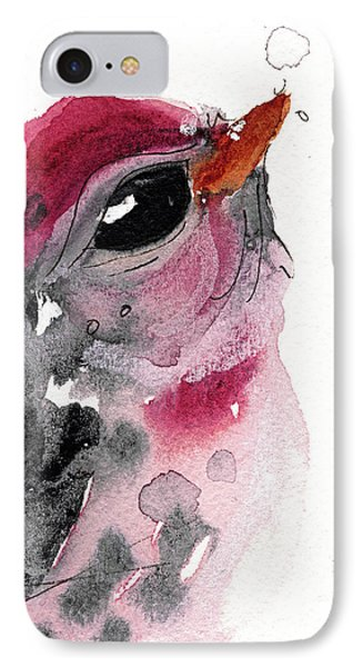 IPhone Case featuring the painting Redpole by Dawn Derman