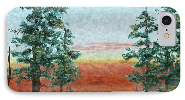 IPhone Case featuring the painting Redwood Overlook by Roseann Gilmore