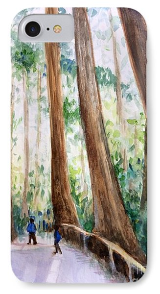 Redwoods And Admirers IPhone Case by Hilary England