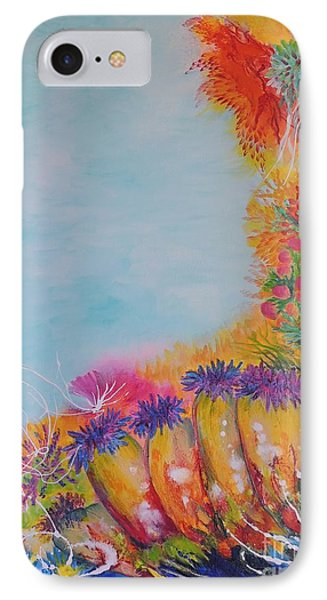 IPhone Case featuring the painting Reef Corals by Lyn Olsen