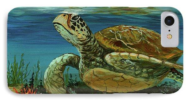 IPhone Case featuring the painting Reef Honu by Darice Machel McGuire