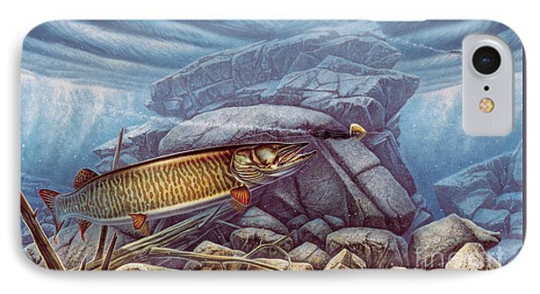 Reef King Musky IPhone Case by Jon Wright