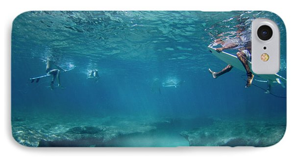 Reef Surfers Phone Case by Sean Davey